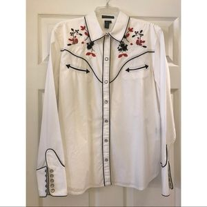 Ralph Lauren Western Style Button Up with Beading